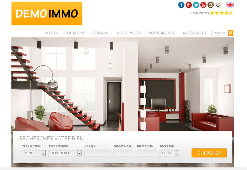 creation site immobilier